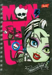 Notes spiralny A6 Monster High wzory,